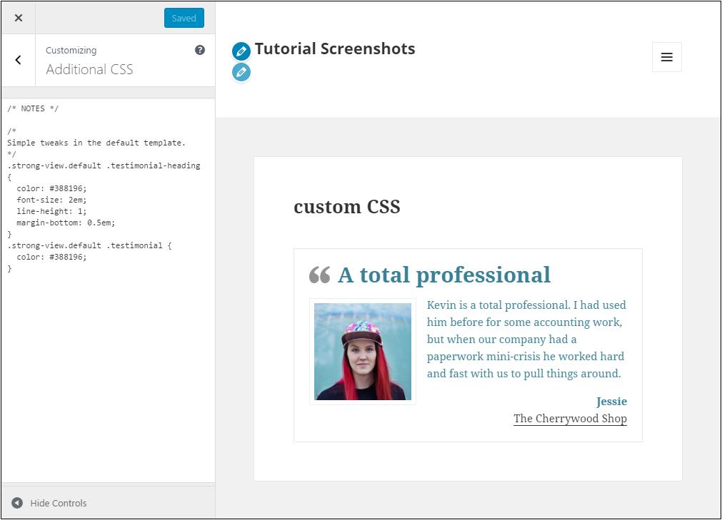 Custom CSS 2