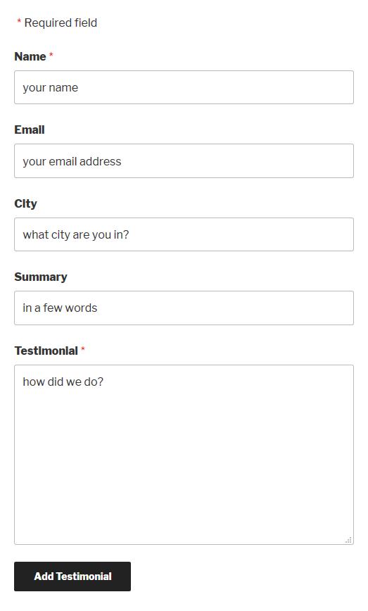 Customizing the Form 15