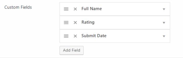 Fields Reordering 5
