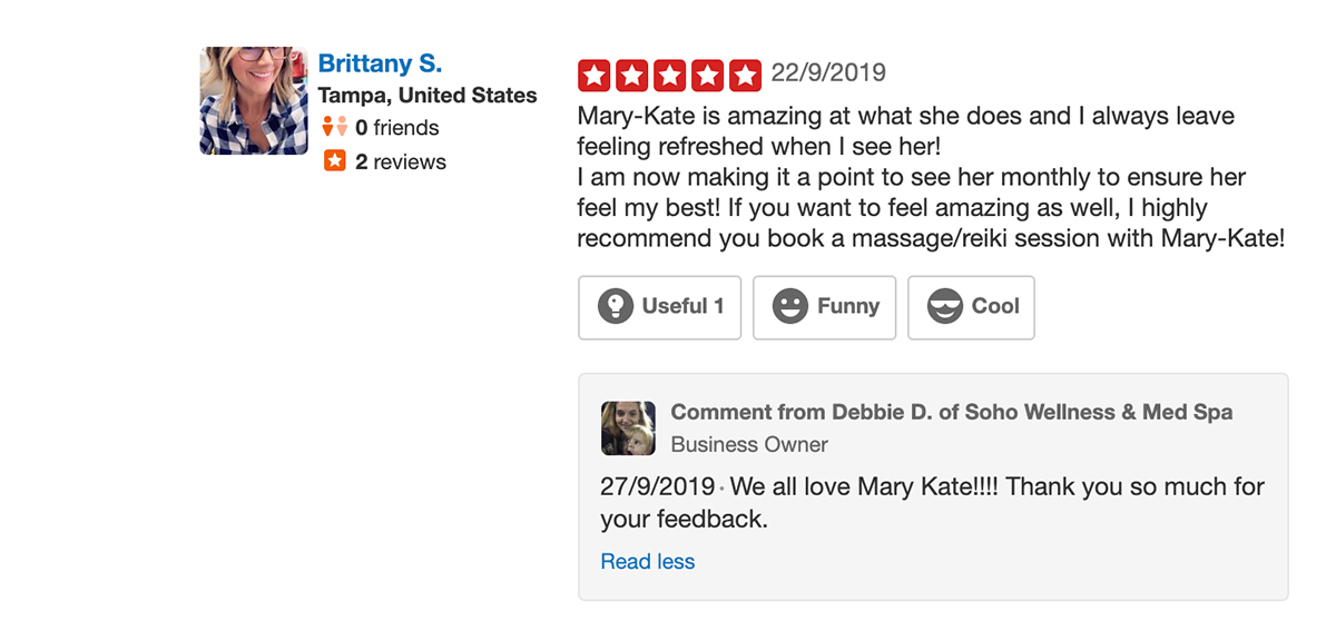 5 star review with speedy response