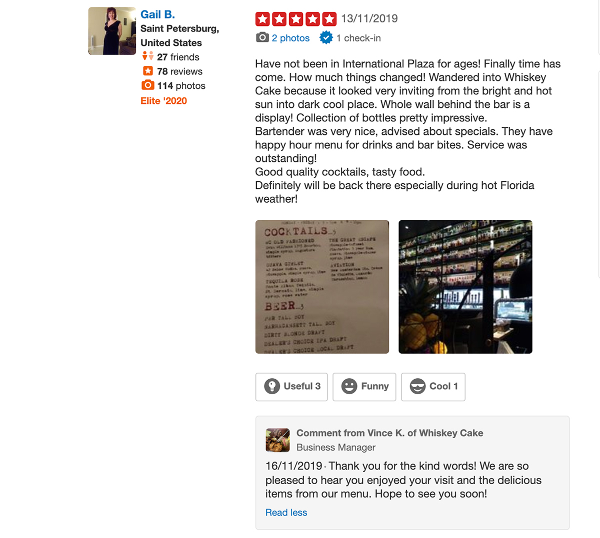 5 star review with an invitation