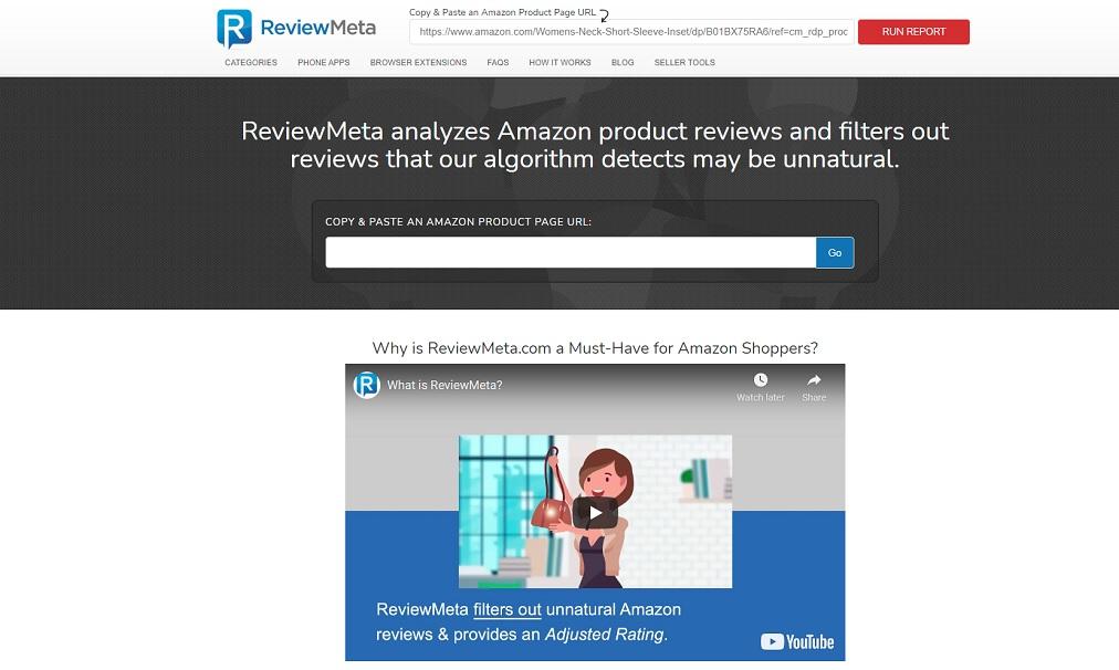 amazon review checker reviewmeta browser extension