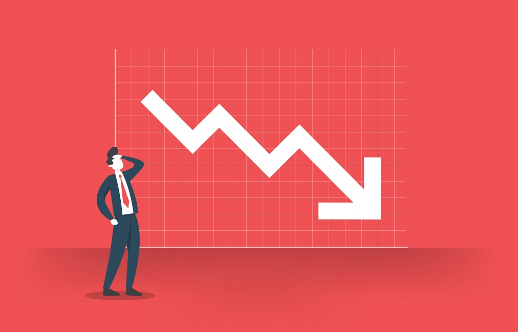 profit decrease going down