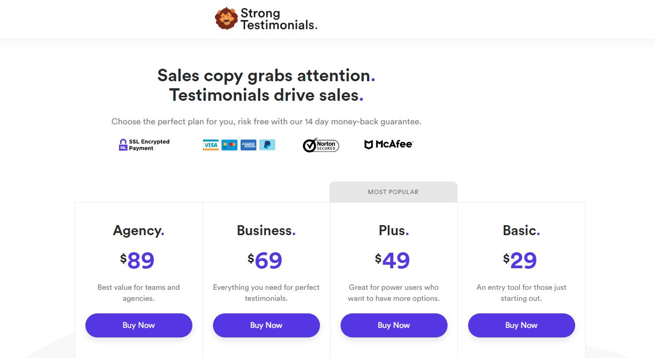 strong testimonials plugin pricing best wordpress testimonial plugins