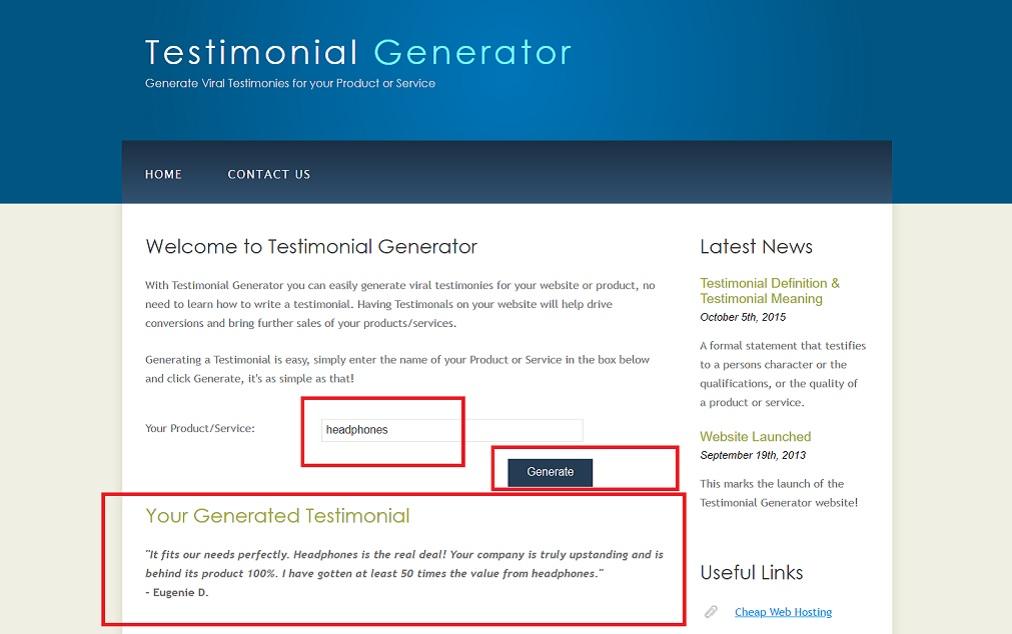 fake testimonial generator software