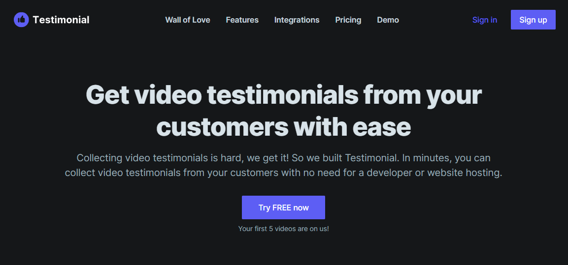 testimonial service for video testimonials