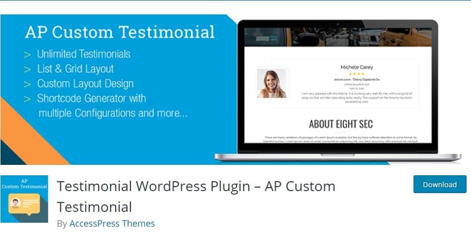 ap custom testimonial plugin