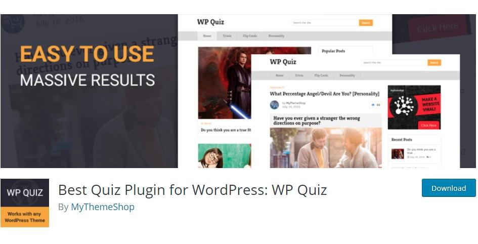 WP Quiz WordPress quiz plugins