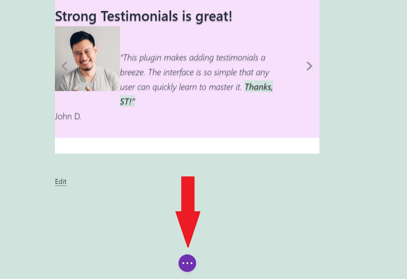 how to publish the testimonial page in Divi