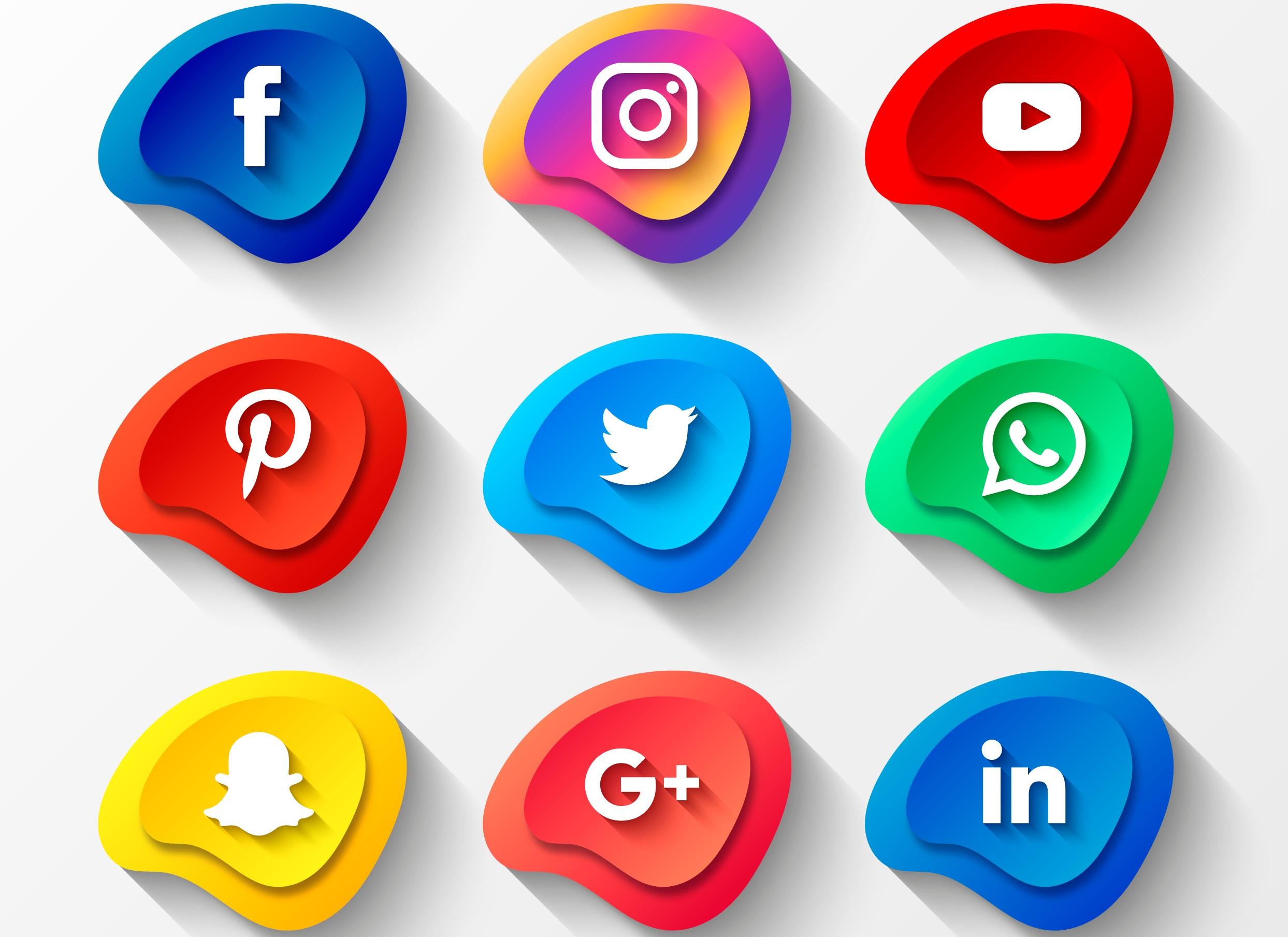 social media icons gather testimonials from social media