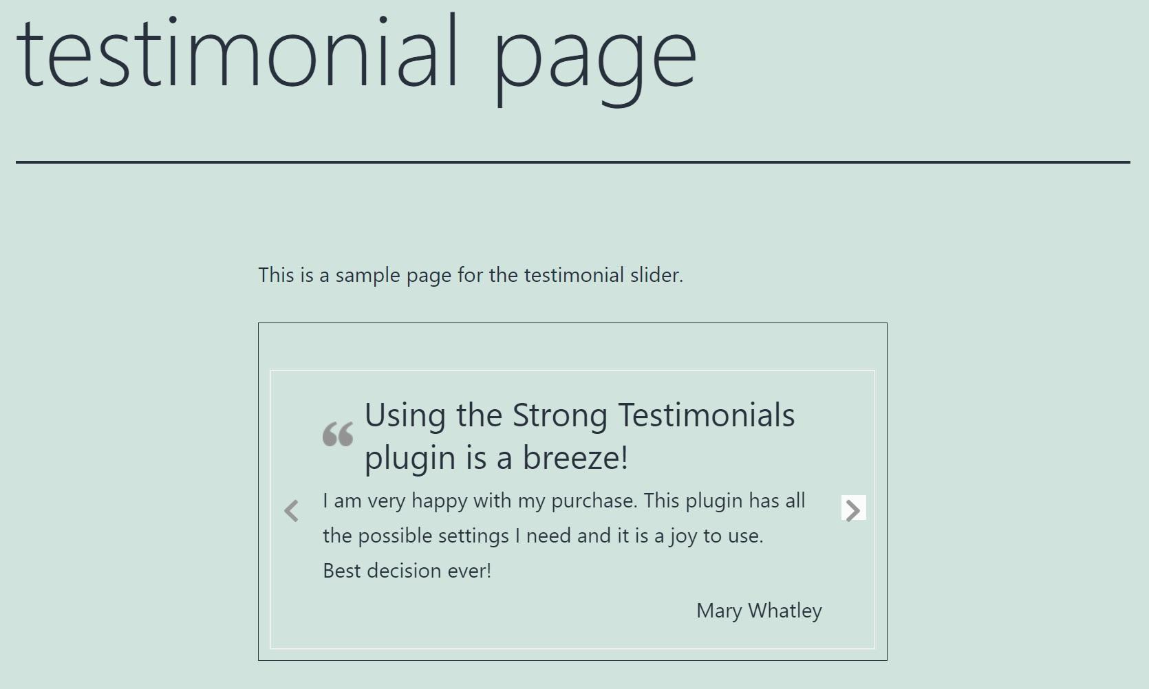 testimonial slider example