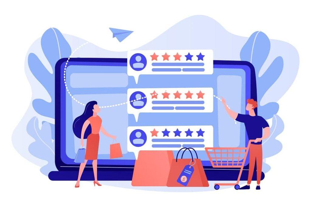 customers looking at reviews