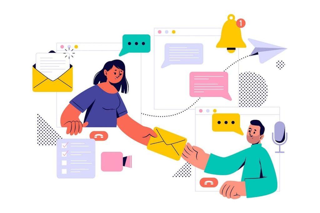 customer giving feedback