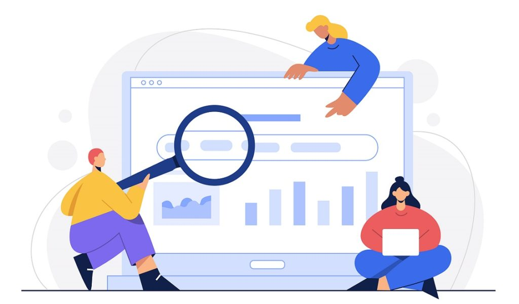 Clients searching on a website
