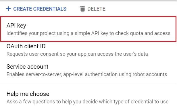 Generate API Key to display Google reviews to wordpress