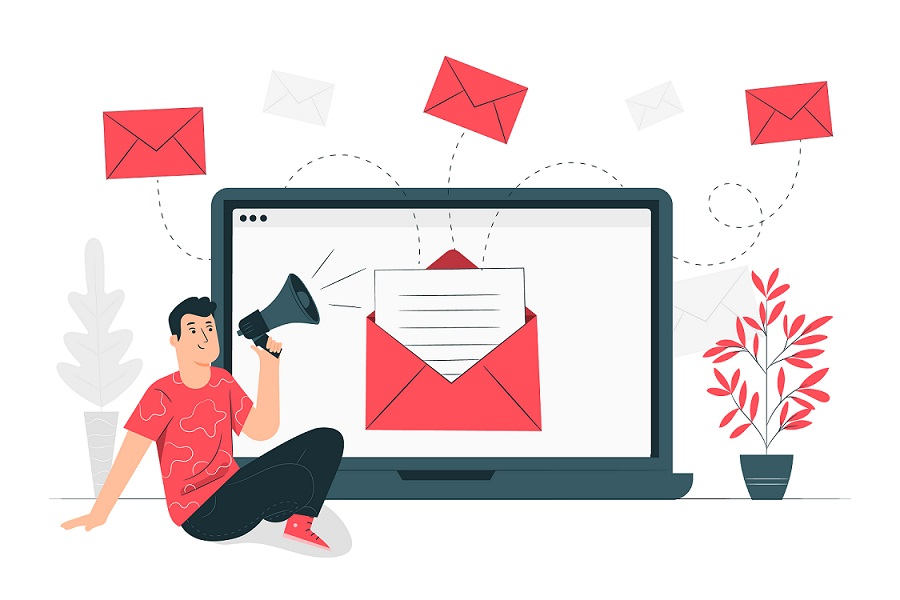 Customer sending negative feedback email