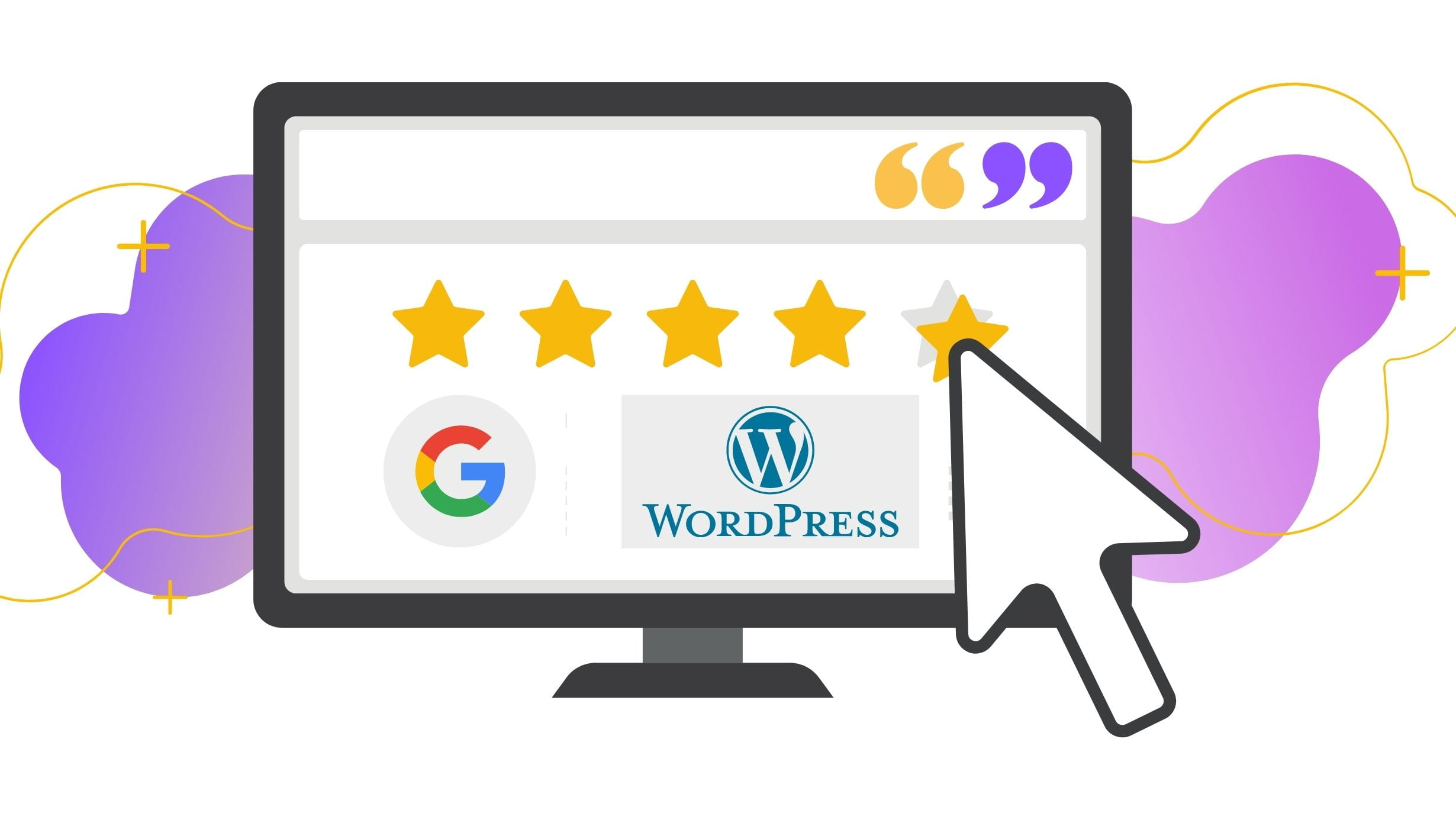 display google reviews to wordpress