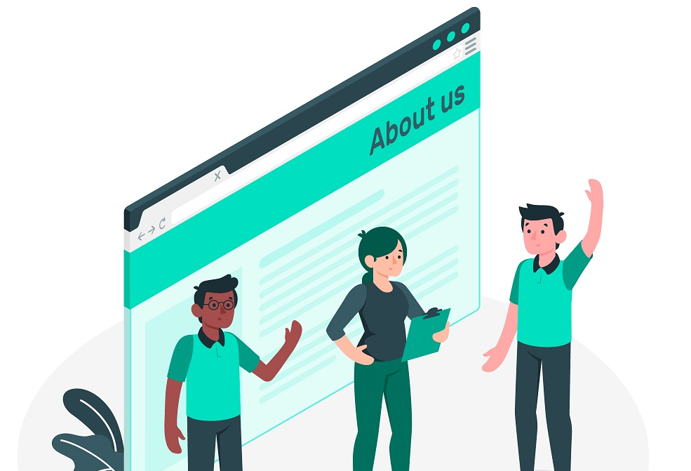 'About Us' page